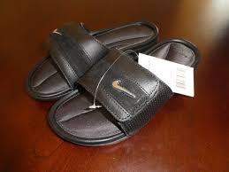 Silver Comfort Sandals Mens Nike Comfort Slides Sandals Size 7 Black Silver Anthracite