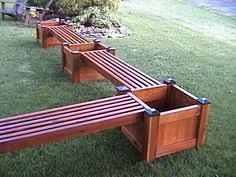 Planter Bench Seat Diy Bench And Planter Combination Deck Decor Pinterest