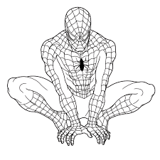 coloring page spiderman coloring sheets on plans free desktop