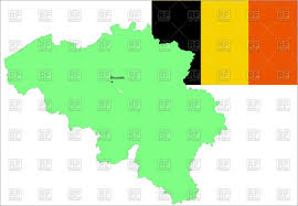 belgium map outline belgium flag and map outline royalty free vector clip image