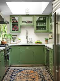 green kitchen cabinets with white countertops 25 chic and lively green kitchens shelterness