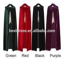 Red Witch Halloween Costume Witch Long Purple Green Red Black Halloween Cloaks Hood