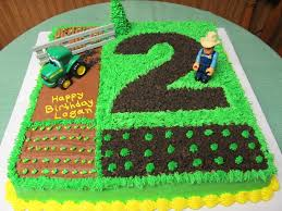 john deere 2nd birthday cake with tractor cakecentral com