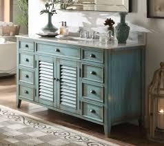 Turquoise Bathroom Vanity 60 Distressed Blue Single Sink Abbeville Bathroom Sink Vanity