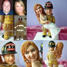 fireman cake topper fighter fireman themed cake toppers custom occupation as
