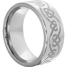 10mm ring ursa tungsten bands carved knot work and hearts circling the
