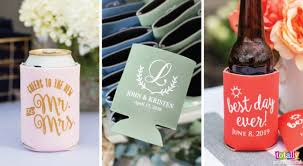 wedding favor koozies why can coolers are the best wedding favors totally inspired