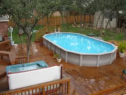 Backyard Ideas Above Ground Pool Deck Design Ideas U2013 Decorating Engaging Backyard