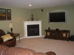Decorating Family Room With Fireplace And Tv - family room with fireplace in corner tv above ideas for component