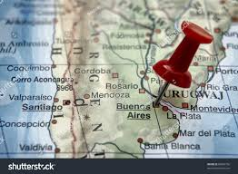 Rio On Map Pushpin On Map Buenos Aires Stock Photo 80626756 Shutterstock
