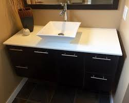 how to install bathroom cabinet vanity how to install a wall hung 5 steps with pictures at bathroom