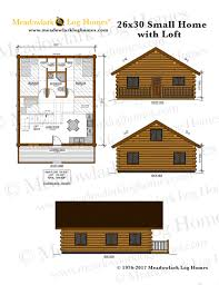 log home floor plans with basement 26x30 small home plan loft log house plans with wloft meadowlark