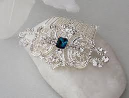 art deco hair comb swarovski crystal head piece bridal hair