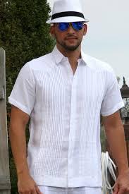 guayabera shirt linen chacavana beach wedding shirt
