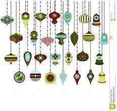 retro christmas ornaments vector clipart stock vector image