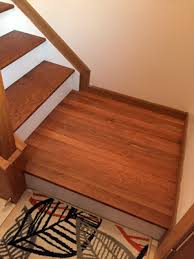 the classic look dark treads and white risers diy stairs