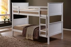 Jade Fixed Ladder White King Single Bunk Beds NZ Lifestyle Imports - King single bunk beds