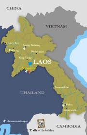 Laos World Map by Laos Map Trails Of Indochina