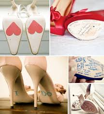 wedding shoes ideas unique ideas for bottom of brides shoes 001 weddings by lilly