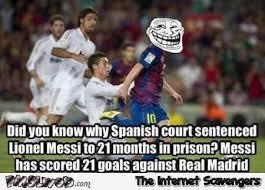 Funny Messi Memes - messi 21 months jail sentence funny meme pmslweb