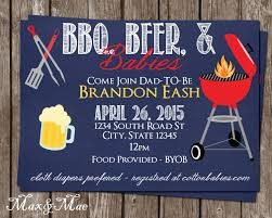 bbq beer babies invitation diaper party invitation diapers