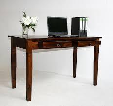 Pc Tisch Schreibtisch 130x80x64cm 2 Schubladen Pappel Massiv