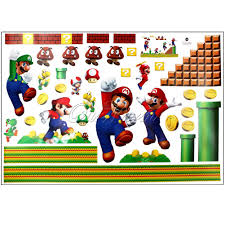 stickers wall decal nintendo super mario stick set kids bedroom stickers wall decal nintendo super mario stick set kids bedroom art decor