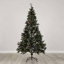 6ft pre lit virginia berry u0026 cone christmas tree dunelm