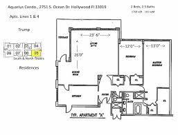 condominium plans floor plans aquarius condominium hollywood florida