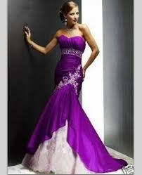 robe violette mariage dentelle perles satin violet et blanc sirène robes de mariée 2016