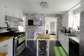 decorating ideas for kitchens with white cabinets white kitchen cabinets and modern wallpaper ideas for decorating