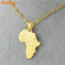 necklace pendants wholesale images Anniyo 9 style africa map pendant necklace for women men silver jpg