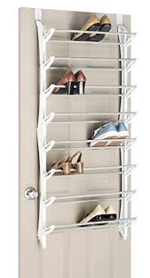 White Shoe Cabinet With Doors by Amazon Com Whitmor Over The Door Shoe Rack 24 Pair White Home