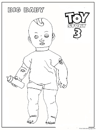 big baby toy story 3 coloring pages kidsfree printable