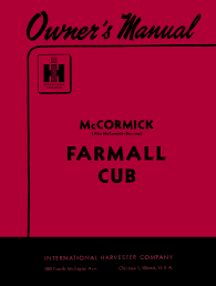 mccormick farmall and international cub tractor