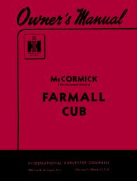 mccormick farmall and international cub tractor