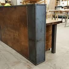 Vintage Salon Reception Desk Custom Made Rustic Industrial Reception Desk Industrial Decor