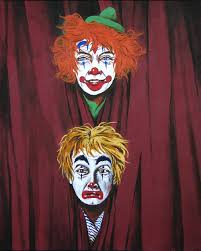 the twins happy sad clowns by charles gardner clowns jokers