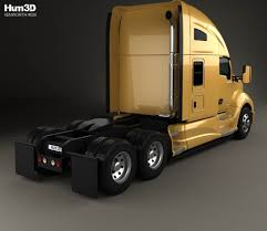 kenworth 2016 models kenworth t680 tractor truck with hq interior 2012 3d model hum3d