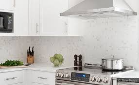White Kitchen Backsplash White Cabinet Marble Mosaic Kitchen - Marble backsplash tiles