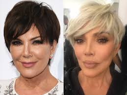 kris jenner hair color kris jenner debuts new blonde pixie cut to welcome 2018 people com