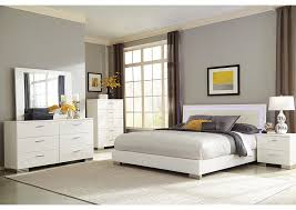 Eastern King Bed Wine Country Furniture High Gloss White Eastern King Bed W Dresser