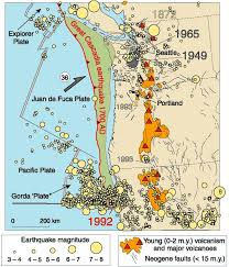 physical map of oregon juan de fuca plate 84 best plate tectonics images on plate tectonics