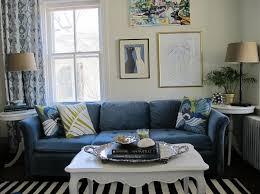 interior design ideas of blue tufted living room sofa the