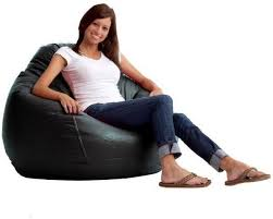 comfy pvc leather bean bag black price review and buy in dubai