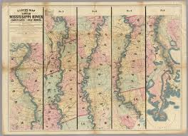Map Of Ms Lloyd U0027s Map Of The Lower Mississippi River From St Louis To The