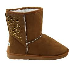 womens flat boots canada studded mid calf ankle faux shearling wide