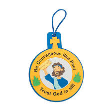 paul was courageous ornament craft kit orientaltrading com vbs