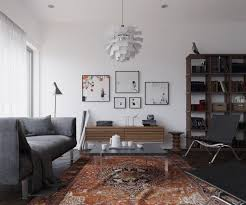 living room interior inspiration carpet vintage scandinavian