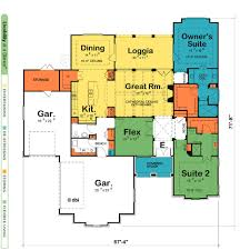 one level house plans with two master suites arts bedroom and